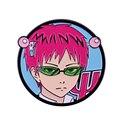 Катастрофическая жизнь Saiki K эмали штырь в стиле аниме для мальчиков розовые волосы супер значок для мальчика
