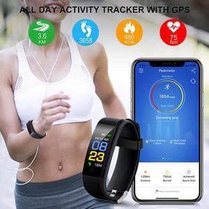 Image 4 - 115plus Bracelet Heart Rate Blood Pressure Smart Band Fitness Tracker Smartband Bluetooth Wristband fitbits Smart Watch Men
