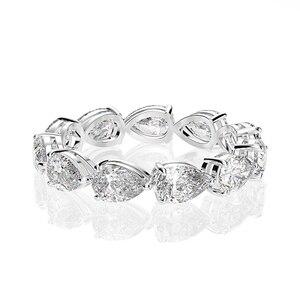 Image 4 - Juegos de anillos de compromiso con piedras preciosas de molissanita, pera de plata esterlina sólida 925, banda de boda, joyería fina, venta al por mayor