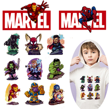Pulaqi DIY Avengers Patch Iron on Transfers For Clothing Spiderman Marvel Heat Transfer Vinyl Clothes Anime Thermal