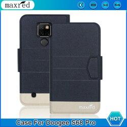 На Алиэкспресс купить чехол для смартфона original! doogee s68 pro case 5 colors high quality flip ultra-thin luxury leather protective case for doogee s68 pro cover