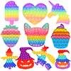 Strawberry Bubble Pop Fidget Kids Toy Sensory Autisim Special Need Its Anti-stress Stress Relief Squishy Fidget Toy For Kids