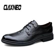 CLAXNEO Man Shoes crocodile Leather Dress Shoe Male Derby Footwear Artificial Formal Oxfords Mens Wedding