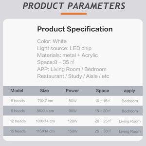 Image 5 - IRALAN светодиодная люстра, современные звезды для гостиной, спальни, пульт дистанционного управления/приложение для поддержки Домашнего Дизайна, модель люстры ICFW1913