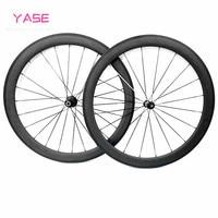 50x23mm carbon wheelset 700c clincher Powerway R36 Ceramic bearing carbon wheels road carbon wheels wheelset 700c bike wheel