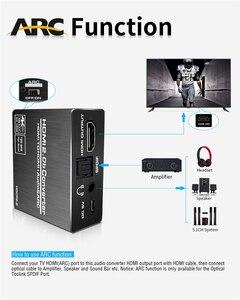 Image 3 - 2020 meilleur HDMI 2.0 Audio extracteur prise en charge 4K 60Hz YUV 4:4:4 HDR HDMI Audio convertisseur adaptateur 4K HDMI vers optique TOSLINK SPDIF