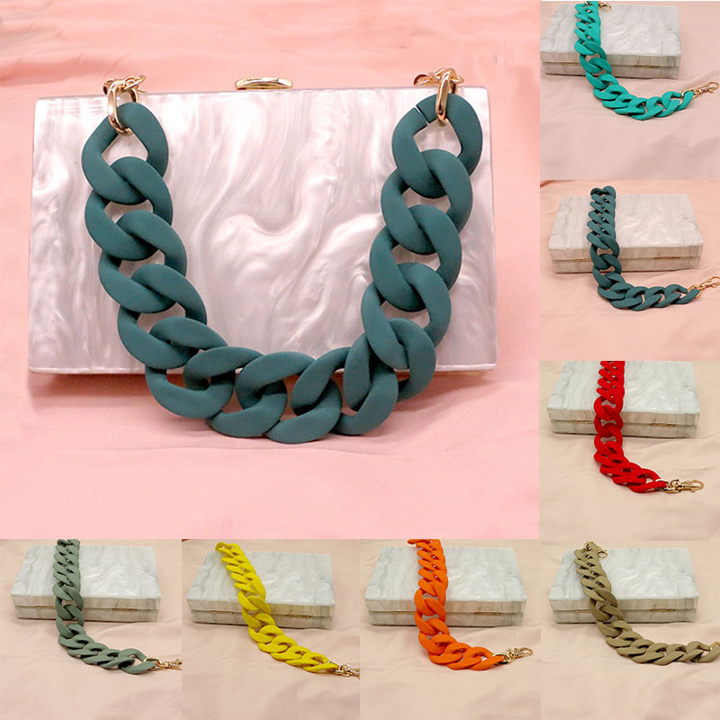 38cm Wide Acrylic Resin Chain Bag Strap For Handbag Handles Women Pouch Purse Chain Strap Acrylic Plastic Chain Bag Accessories