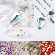 20 шт стеклянные кристаллы, Стразы 3D большие капли воды камни для дизайна ногтей украшения Стразы полировка Шарм Дизайн Аксессуары Ювелирные изделия