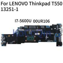 KoCoQin Laptop motherboard Für LENOVO Thinkpad T550 I7-5600U Mainboard 00JT407 00UR106 13251-1 48.4AO12.011 SR23V(China)