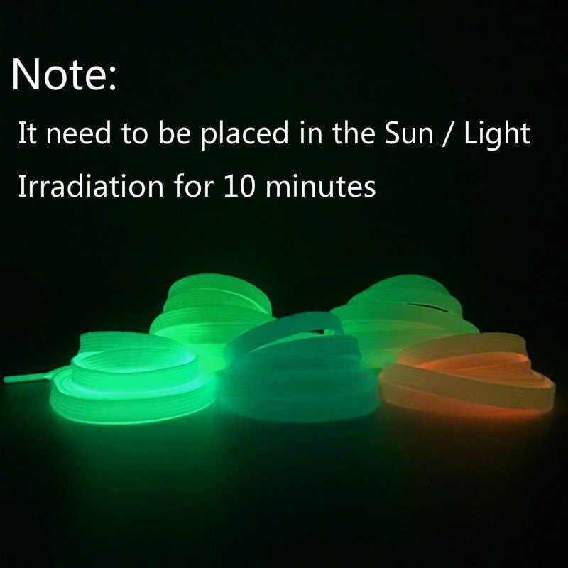 2 pc/Pair Glow In The Dark Light Per Bambini Giocattoli Luminosi Laccio Adesivi Divertente Regalo di Sport Corsa E Jogging Fluorescente Regalo Giocattoli Per bambini