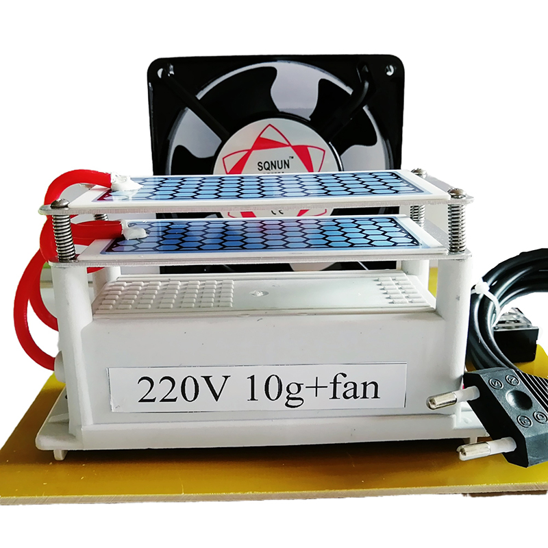 Dropshipping  Ozone Generator 10g Ozone +fan 220V Ozonizer Ozonio Ozonator For Home Car Sterilization Air Cleaner Air Freshener