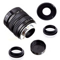 Объектив Fujian 35 мм f/1,7 APS-C CCTV + переходное кольцо + 2 макрокольца для беззеркальной камеры SONY NEX A5300/A6000/A6300/A7/A7II/A9