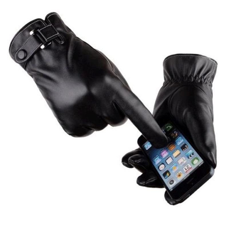 2020 Hot Plus Velvet Men's Genuine Leather Gloves Sheepskin Gloves Fashion Female Windproof Gloves Autumn And Winter Mittnes