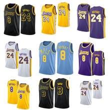 2021 feito sob encomenda camisa de basquete dos homens los angeles lakers kobe bryant quebra rápida manba réplica camisa de basquete t camisas