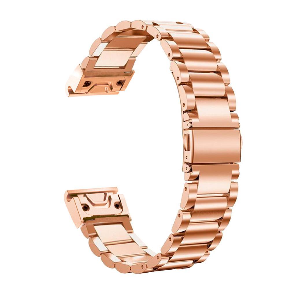 Image 5 - Fenix 6S metalowa bransoletka 20mm stal nierdzewna Metal QuickFit Watch Band pasek dla Garmin Fenix 5S/5S Plus bransoletka zamiennaInteligentne akcesoriaElektronika użytkowa -