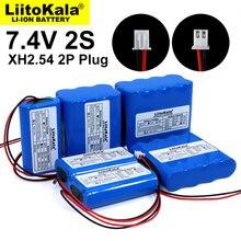 Batteria al litio Liitokala 7.4V 18650 2S 6ah 9ah pesca LED luce altoparlante Bluetooth 8.4V batterie di emergenza fai da te con PCB