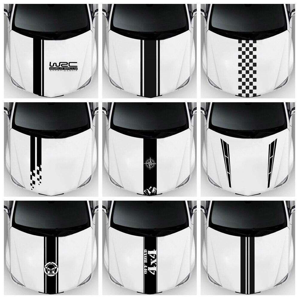 Модные WRC полоса виниловые покрытия для автомобилей гоночных спортивных переводная головка автомобиля стикер виниловые наклейки на авто н...