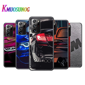 Black Cover Blue Red Car for Bmw for Samsung Galaxy Note 20 20Ultra 10 lite 9 8 S10 5G S9 S8 S7 S6 Plus Phone Case image