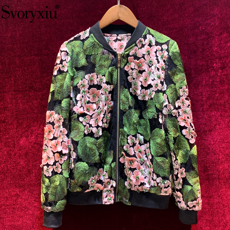 Svoryxiu Designer Summer Sexy TulleTtransparent Embroidery Jacket Coat Women's Manual Diamond Applique Long Sleeve Thin Outwear