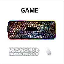 LED RGB USB マウスパッドゲーミングマウスマップ大ビッグ照明バックライト虹ゲーマー XL マウスパッド 900 × 400 表面キーボード DeskMat マウス