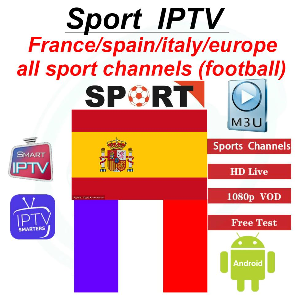 Spain/ Spanish Sport IPTV Server France Germany Portugal IPTV Incloud Sport Football Channels Stable Server M3u Samrt Device