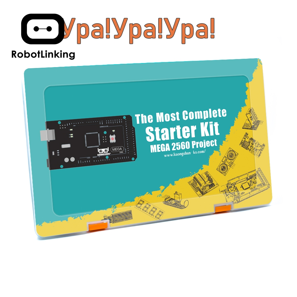 Projet Robotlinking EL-KIT-008 Mega 2560 le Kit de démarrage ultime le plus complet avec tutoriel pour Arduino UNO Nano