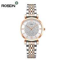 Rosdn Аутентичные водонепроницаемые часы со звездами Женская