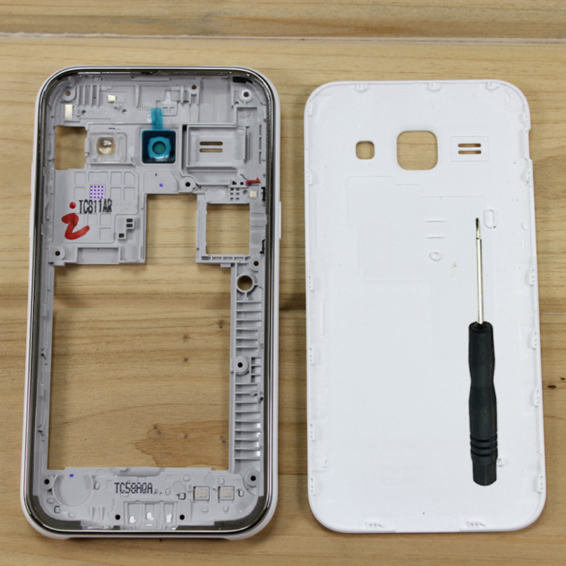 For Samsung Galaxy J1 2015 J100 J100F <font><b>J100H</b></font> J100FN Original Mobile Phone Chassis Case Housing Middle Frame With Back Cover image