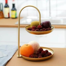 2 Layer Snack Rack Fruit Plate Cake Pastry Dish Display Serving Tray Fruit Candy Shelf Cosmetic Jewelry Tray Party Decoration