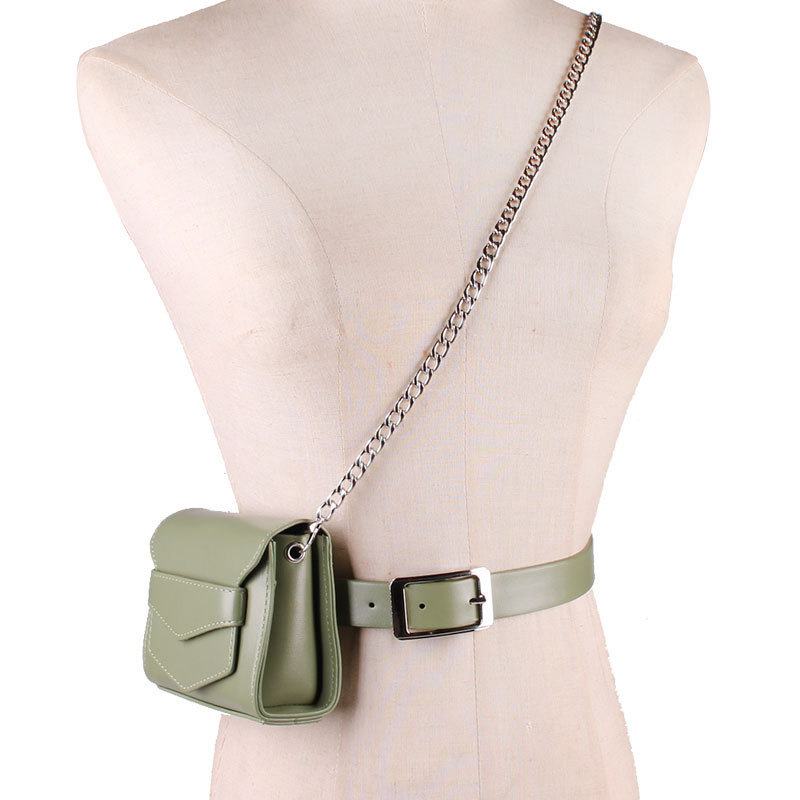 2020 Spring Fashion Casual Bags For Women Stylish Chain Solid New Design All-match Belt Bag Female Black Waist Bag Trendy ZK480
