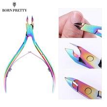 BORN PRETTY pinza para cutícula de uñas cortador colorido tijeras producto para eliminar la piel muerta Trimming Nail Art Tool