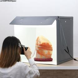 New SANOTO 56cm Photo Studio Box Photography Backdrop portable Softbox 2 Panel LED Light Photo Box fold Photo Studio Soft Box