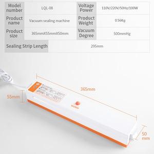 Image 5 - WOMSI מזון אוטם ואקום אריזה מכונה עם 15pcs שקיות משלוח ואקום מזון איטום מכונת ואקום אוטם פקר