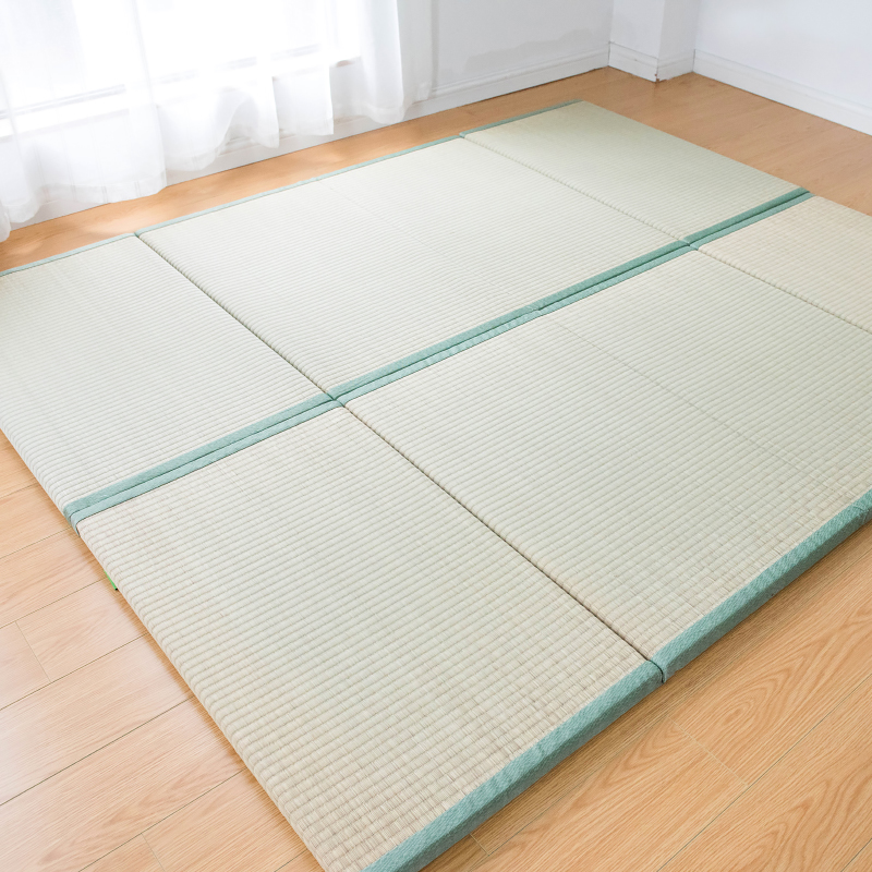 Japan Style Foldable Sleeping Mattress Tatami Straw Mat Home Decor Yoga Mat Traditional Straw Mattress