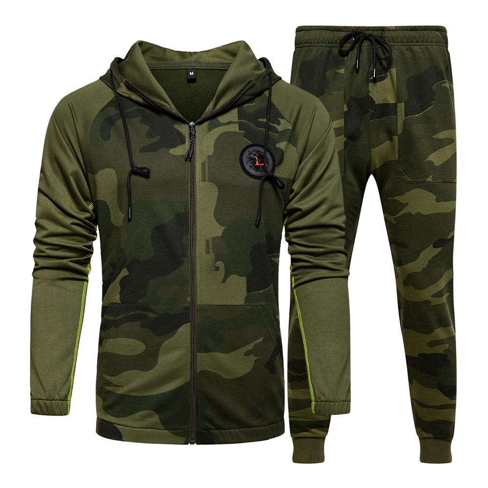 Men Sports Suit Spring and Summer New Men s Camouflage Sweater Large Size S XXL Fashion