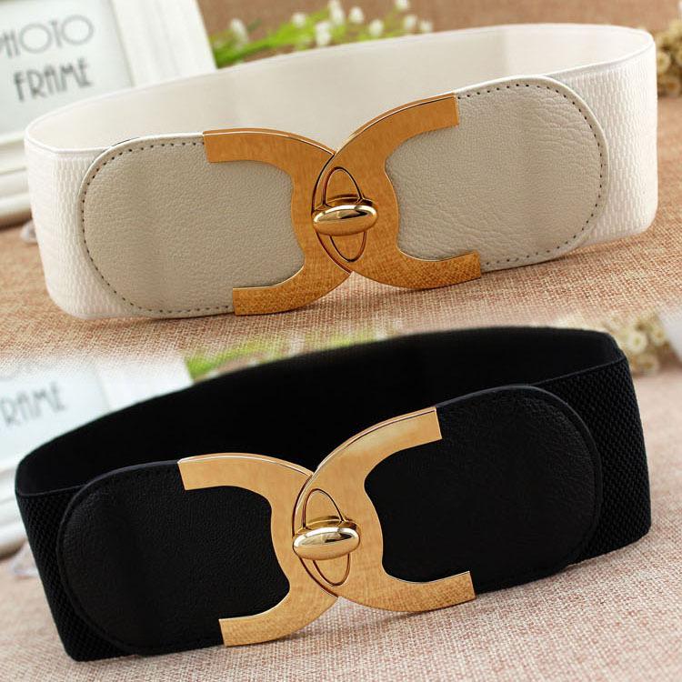 2020 New Fashion Korean Style Buckle Elastic Wide Belt Wide Cummerbund Strap Belt Waist Female Women Accessories