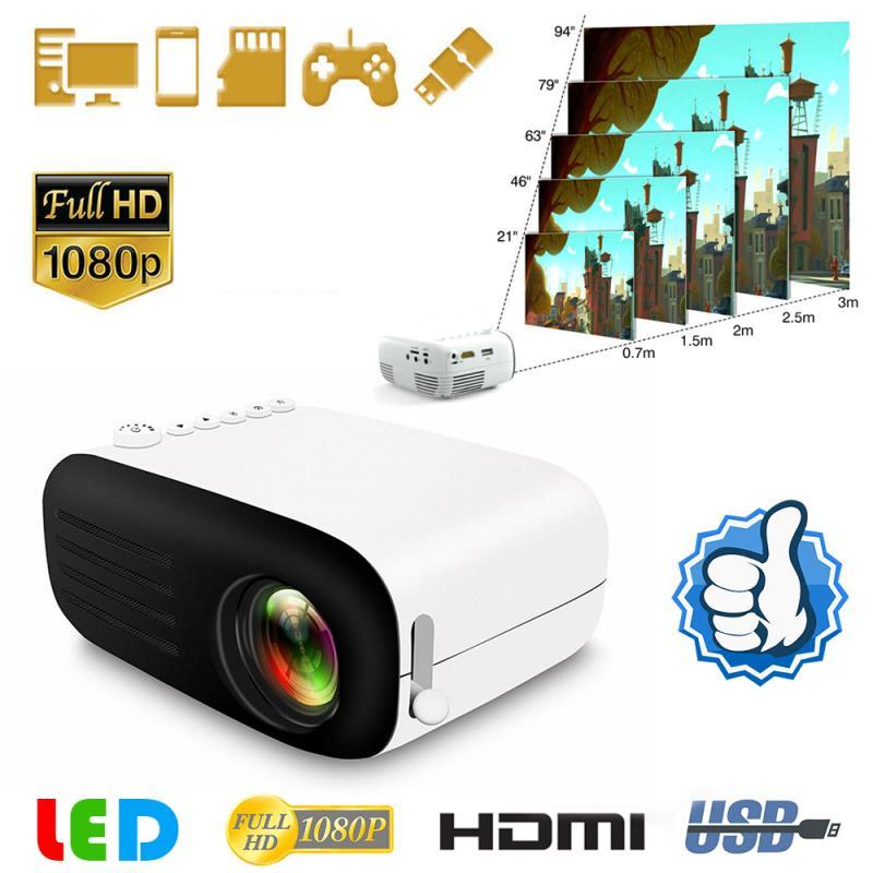 2020 мини 1080P светодиодный мини проектор для смартфонов дома Театр сотовом телефоне full hd проекторы мини-проектор для мобильных устройств на Х...