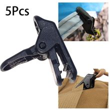 Heavy Duty Outdoor Camping Canopies Tent Awning Clamp Tarp Clips Balck Set 5Pcs(China)