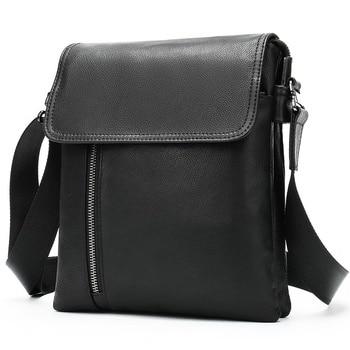 WESTAL Men's Genuine Leather Shoulder Bag For Men Casual Crossbody Man Handbag Messenger Bag Male Side Bags Guarantee Men's Bags - 6038A4black, China