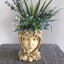 Творческий статуя богиня девушка кашпо для суккулентных растений