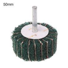 1 шт. 120 грит чистка ткань крыльчатка шлифовка наждачная бумага заслонка колесо головка 6 мм хвостовик оправка для вращающегося полироль инструмент