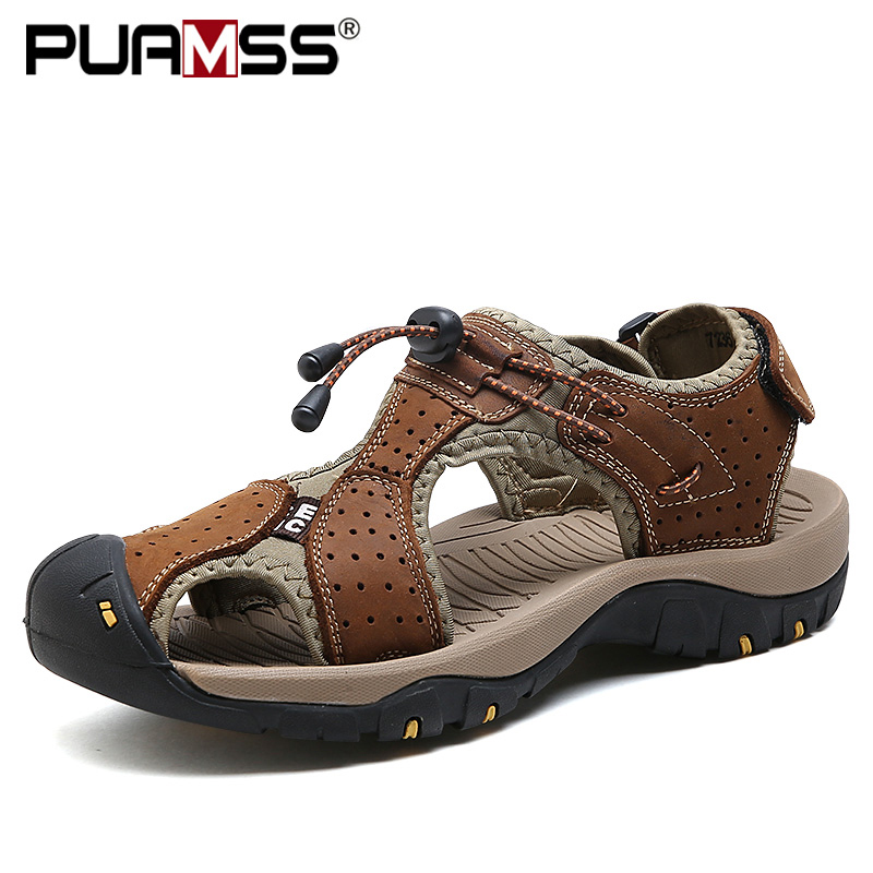Men's Summer Sandals Lightweight Non slip Hiking Trekking Outdoor Sports Leisure Beach Fishing Sandals
