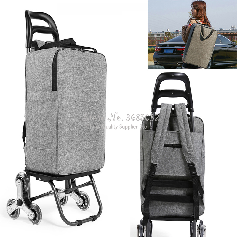 Color : A Shopping Trolley Folding Trolley Luggage Trolley Supermarket Portable Household Trailer