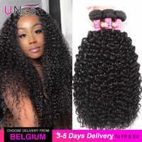 UNice pelo 100% rizado cabello humano Remy 8-26