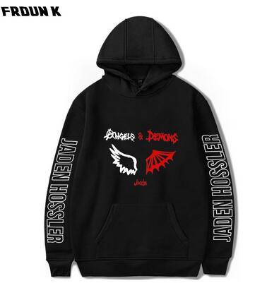 2020 New JADEN HOSSLER Angels & Demons By Jxdn Wing 2D Print Hooded Sweatshirt Women/Men Clothes Casual Hoodie Sweatshirt