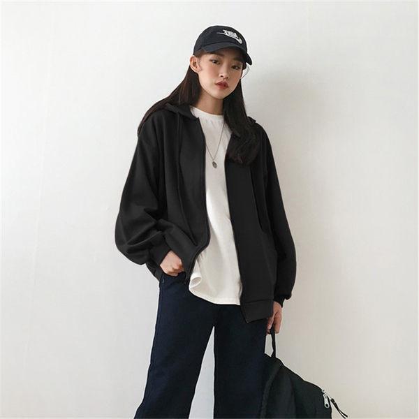 Summer 2021 Fashion Zip Up Cute Bear Sweetshirt Vintage Long Sleeve Spring Clothes Women Hoodies Coat Loose Harajuku Tops 17