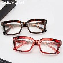 Reading-Glasses Square Diopter Women Big-Frame Fashion Oulylan Flower-Print 3-3.5