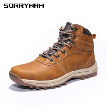 New Boots Men Winter Snow Outdoor Activity Sneakers Warm Lace Up High Top Fashion Shoes Safety 39-48