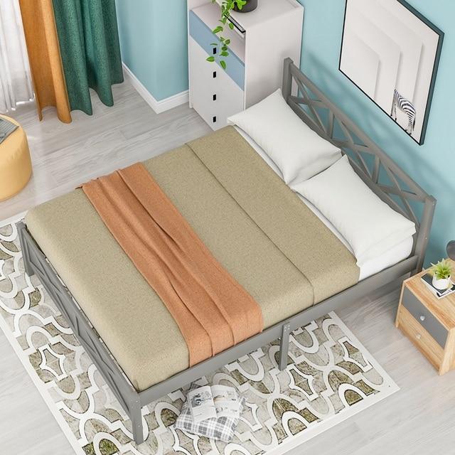 Queen Size Wooden Platform Bed 4