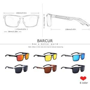 Image 3 - BARCUR gafas De Sol cuadradas De aluminio y magnesio para hombre y mujer, lentes De Sol polarizadas Estilo Vintage, deportivas